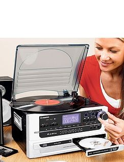6- In- 1 Music System With CD Burner and Record Maintenance Kit