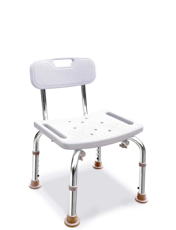 Aluminium bath shower seat with back home bathroom for Homeware accessories