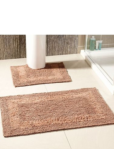 Reversible 2 Piece Bathroom Mat Set