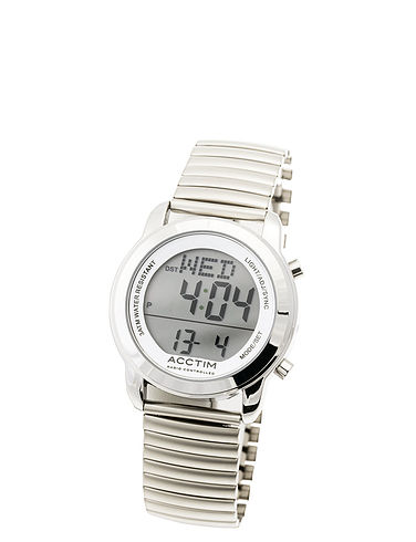 Easy-Read Large Number Radio Controlled Watch Adjustable Bracelet