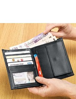 Real Leather Multi Pocket Wallet