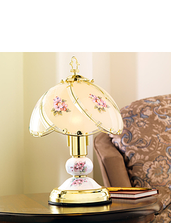 "Extra Tall 14"" Porcelain Effect Touch Lamp"