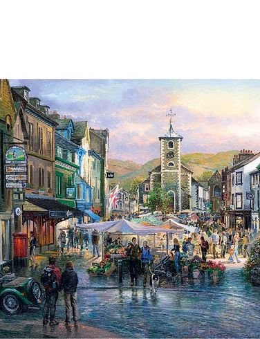 Boxed Set Of 2 X 1000Pc Town Of The Lakes Jigsaw Puzzles