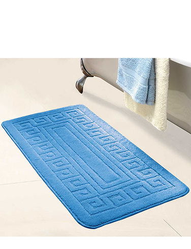 Greek Key Extra Long Bath Mat