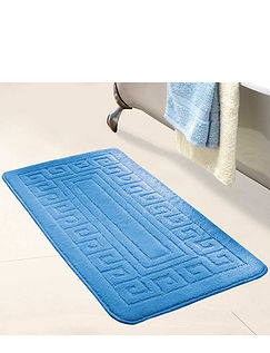 Greek Key Design Extra Long Bath Mat