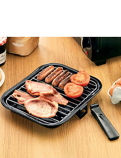 Grill Pan with Rack and Detachable Handle
