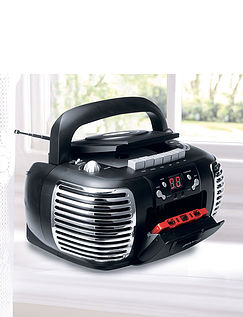 3-In-1 Retro Radio/Cassette/CD Player