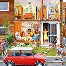 Memory Lane Our House 1960's 1000pcs Jigsaw Puzzle
