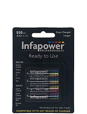 Infapower Rechargable Quality 4 x AAA Batteries