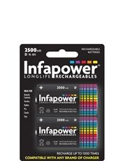 Infapower Rechargeable Quality D Batteries 2X
