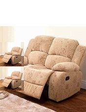 Buxton Manual Recliner Two Seater Settee And Two Chairs