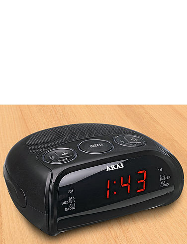 AKAI LED Alarm Clock Radio