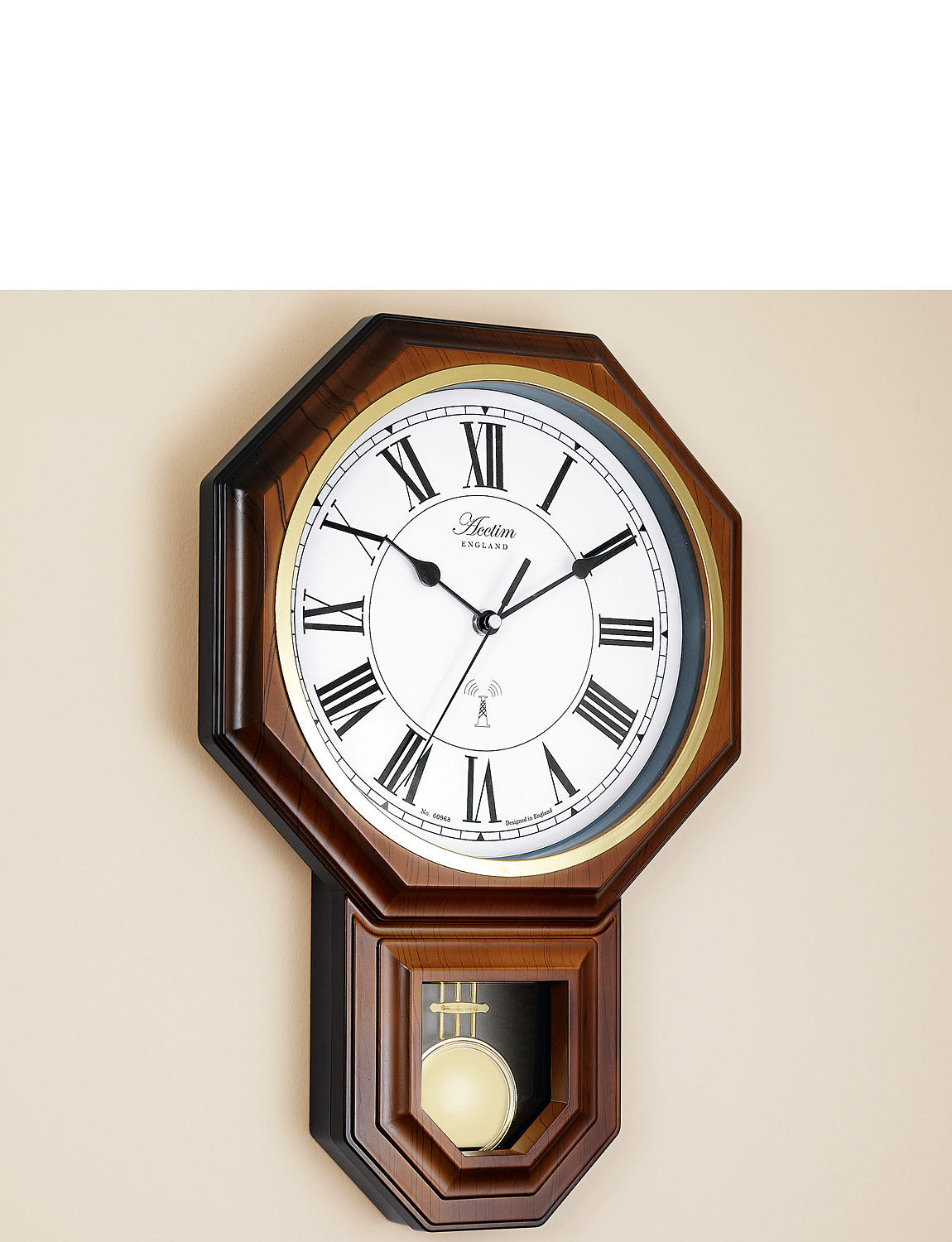 Radio controlled wall clocks alarm clocks chums radio controlled pendulum wall clock amipublicfo Image collections