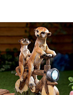Gregory and Victor Meerkats on a Bike Solar Light
