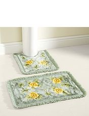 Two Piece Bathroom Mat Set
