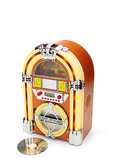 Table-Top Jukebox CD Player With Bluetooth