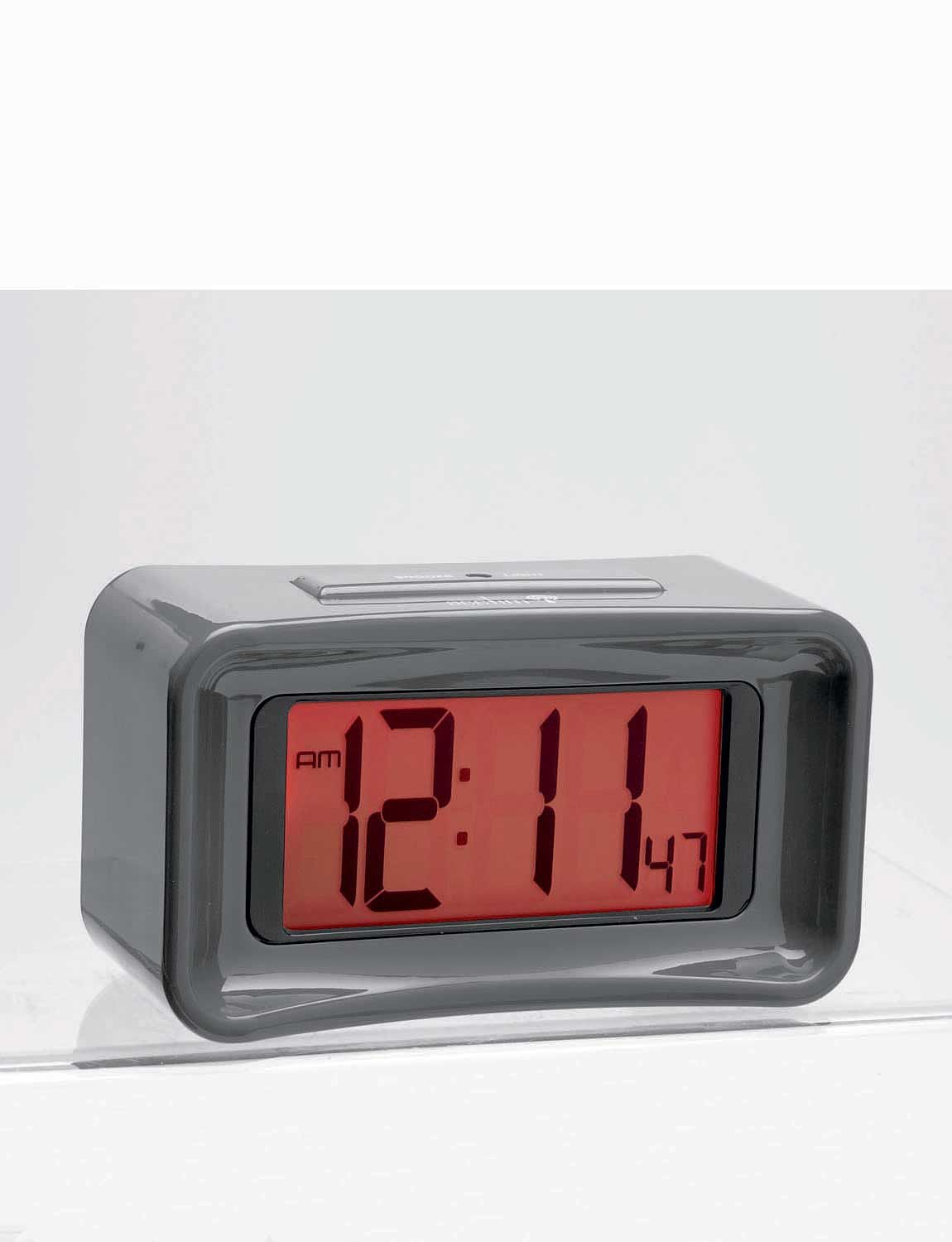 radio controlled big number lcd alarm clock with night glow chums. Black Bedroom Furniture Sets. Home Design Ideas
