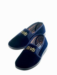 Monogrammed Men's Slippers
