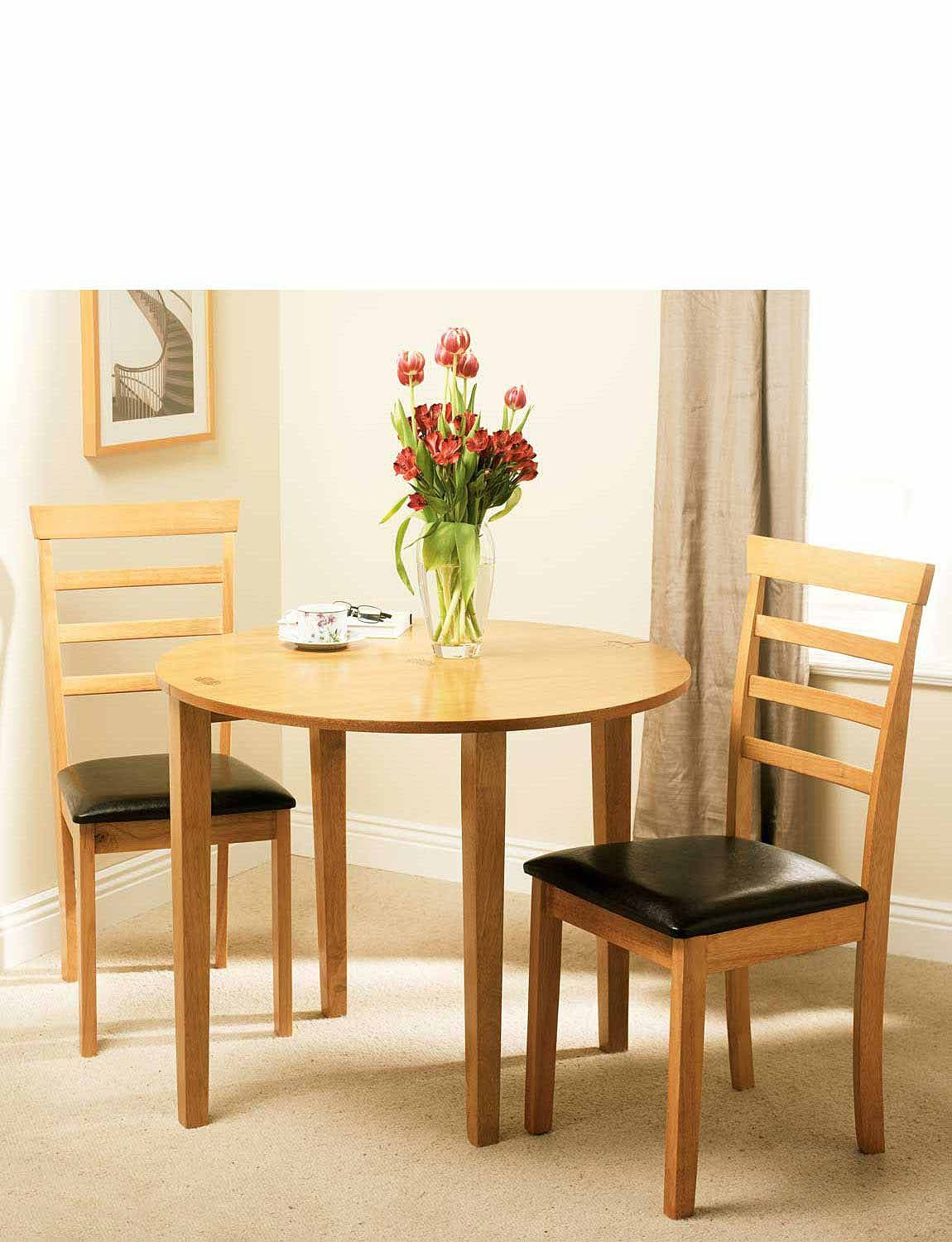 Half Moon Extending Table And 2 Chair Set Chums