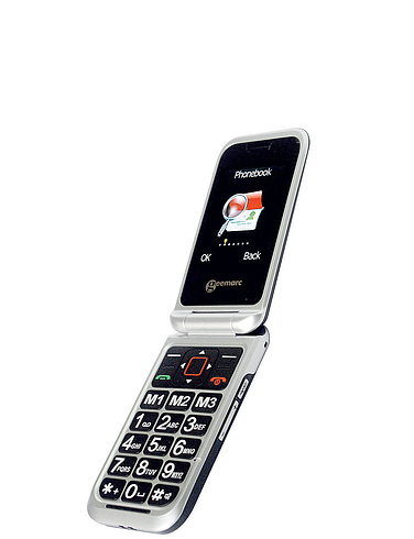 Clamshell Mobile Phone - Black