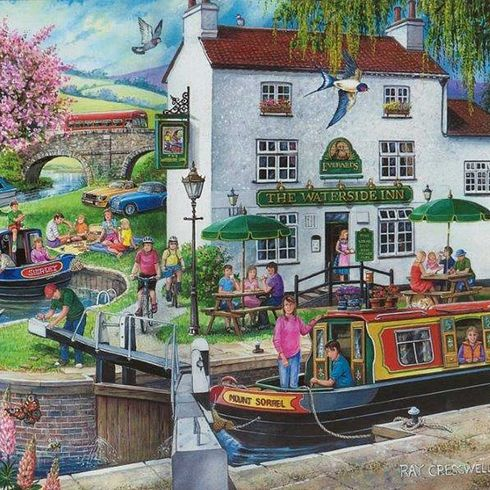 By The Canal 1000pcs Jigsaw Mc327