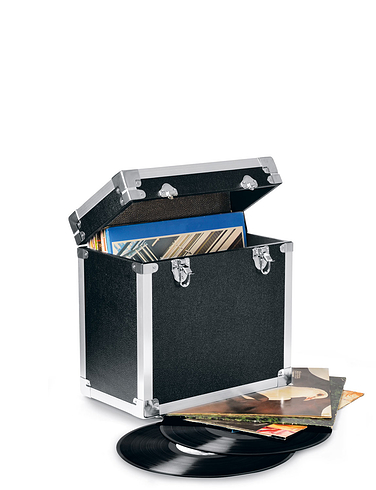 Portable Music Storage Box For 12 Inch Records