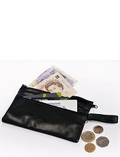 Real Leather Security Wallet