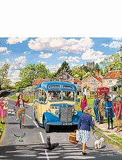 "Gibsons' ""The Country Bus"" 500Pc Jigsaw Set Of 4"