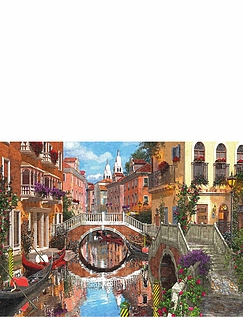 "Gibsons' ""Paris And Venice"" 500Pc Jigsaw Set Of 4"