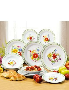 Wild Flowers- 12pc Porcelain Dinner Set