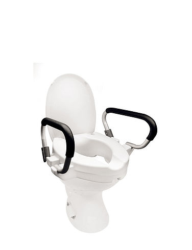 Raised Toilet Seat With Rails