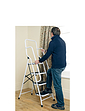Two Step Ladder With Safety Rail