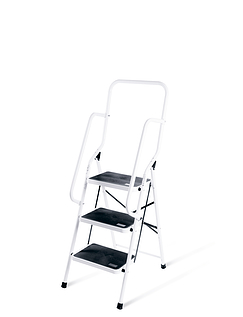 Three Step Stepladder With Safety Rails