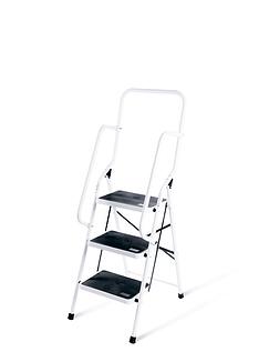 Three Step Ladder With Safety Rail
