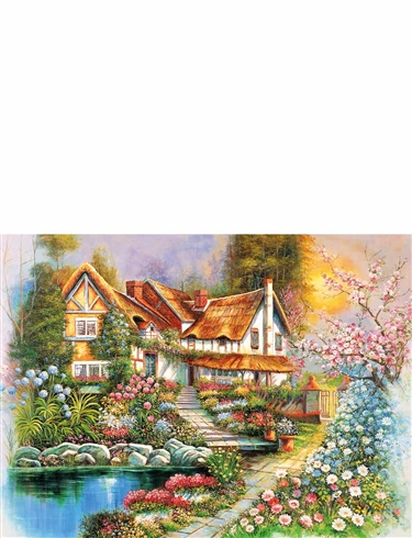 "Country Cottages"" 500Pc Jigsaw Set Of 4"