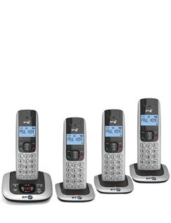 Set of 4 Cordless Telephones – Up to 4 Phones on one Line!