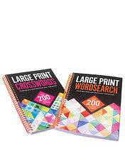 Large Print Crossword & Word Search Puzzle Books