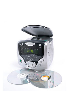 CD Cube With Dual Alarm, Radio and CD Player