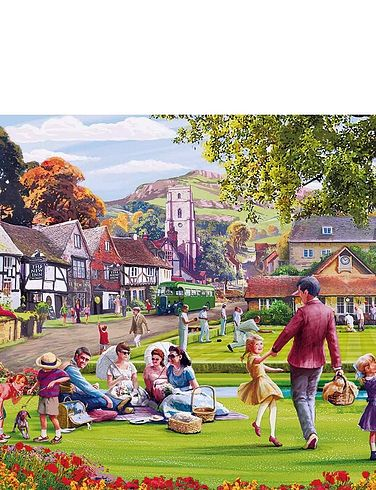 Picnic On The Green 1000Pc Jigsaw Puzzle