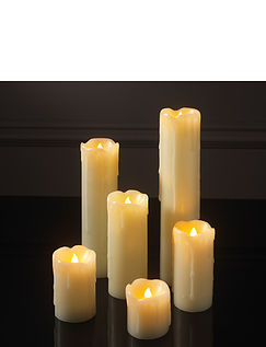 LED Candles Dripping Wax - Set Of 6