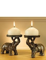 Elephant Candle Holders