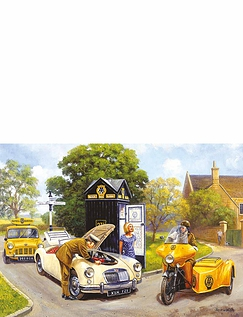 "Gibsons' ""Knights Of The Road"" 500Pc Jigsaw Set Of 2"