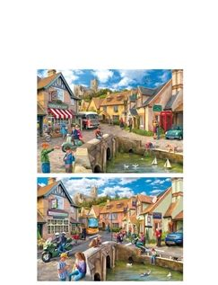 "Gibsons' ""Then And Now"" 500Pc Jigsaw Set Of 2"