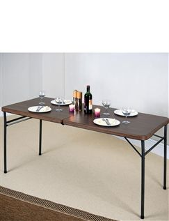 Wood Effect Fold Away Table