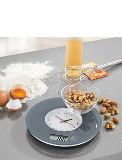 2-in-1 Kitchen Scales With Clock