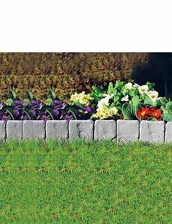 Stone Effect Edging - Set Of 10