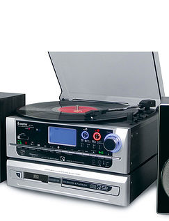 New And Improved High Quality 6-In-1 Music System With CD Burner And Stereo Sound