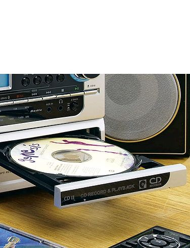 6-In-1 Modular Music System With CD Burner and Stereo Sound FM /MW Radio