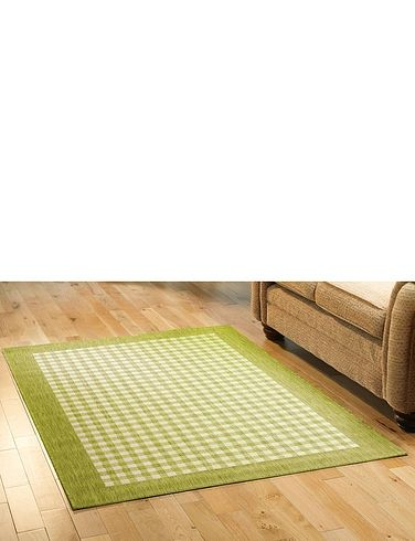 County Gingham Check Flatweave Rugs