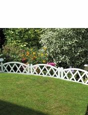 White Garden Fence Panels